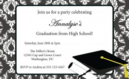 002 Amazing College Graduation Invitation Template Sample  Templates Free Party