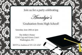 002 Amazing College Graduation Invitation Template Sample  Party Free For Word
