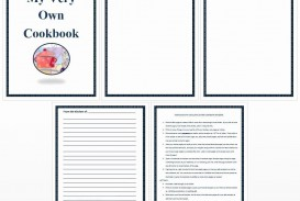 002 Amazing Create Your Own Cookbook Template Inspiration  Free