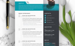 002 Amazing Creative Resume Template Free Microsoft Word Highest Quality  Download For Fresher