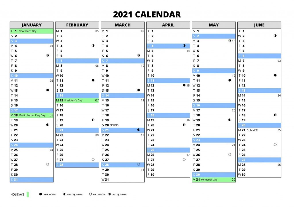 002 Amazing Excel Calendar 2021 Template Highest Clarity  Yearly MicrosoftLarge