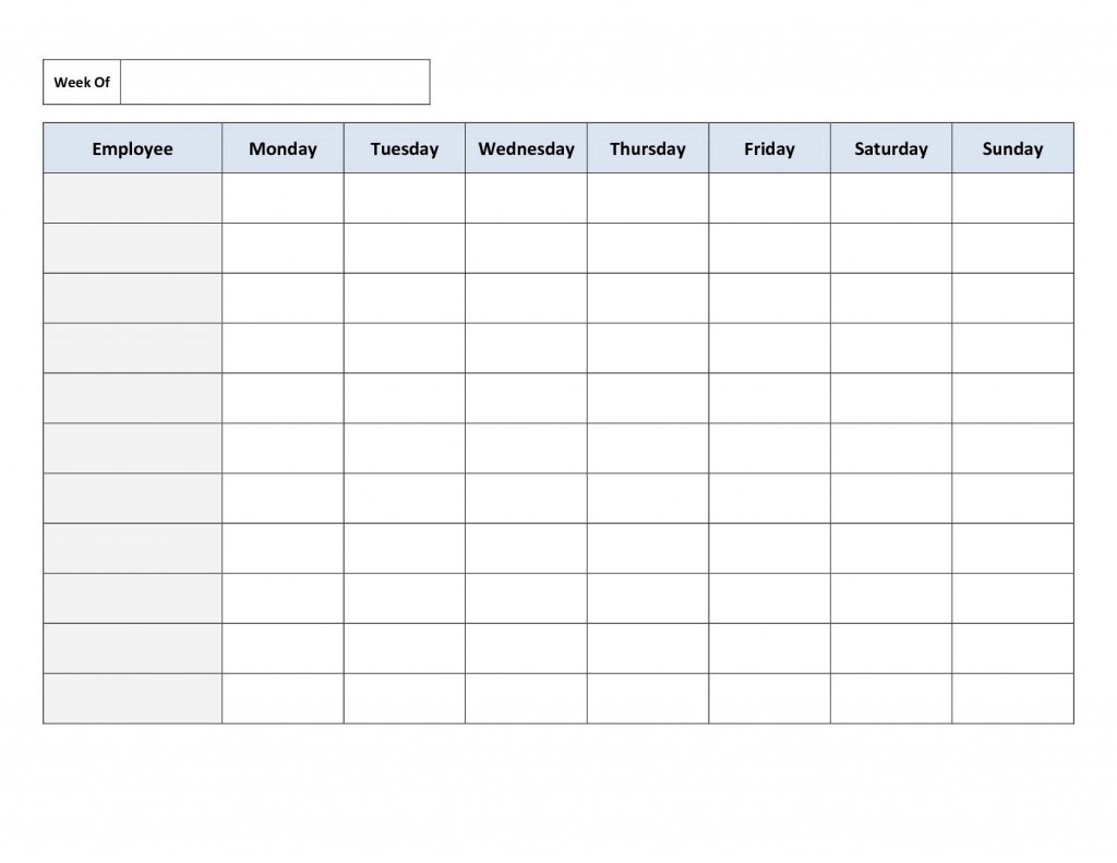 002 Amazing Free Employee Scheduling Template Idea  Templates Weekly Work Schedule Printable Training Plan ExcelLarge