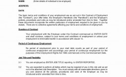 002 Amazing Free Employment Contract Template Highest Quality  Templates Bc Temporary South Africa Ireland