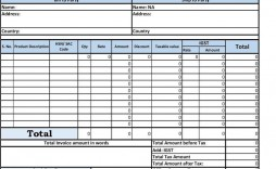 002 Amazing Free Excel Invoice Template Gst India Image
