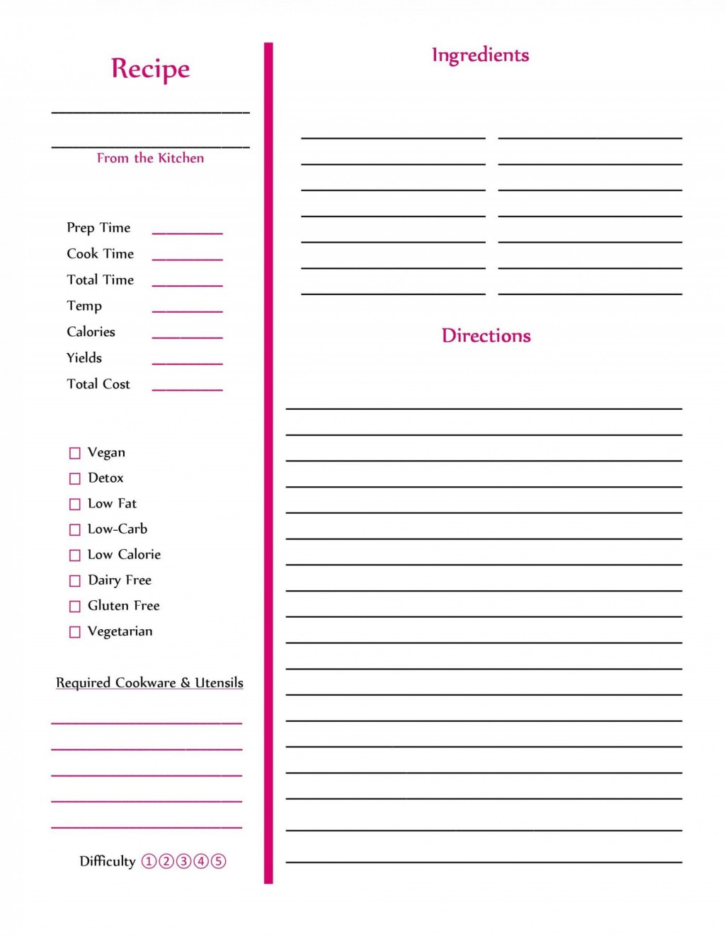 002 Amazing Free Recipe Book Template Highest Clarity  Editable Cookbook For Microsoft Word IndesignLarge