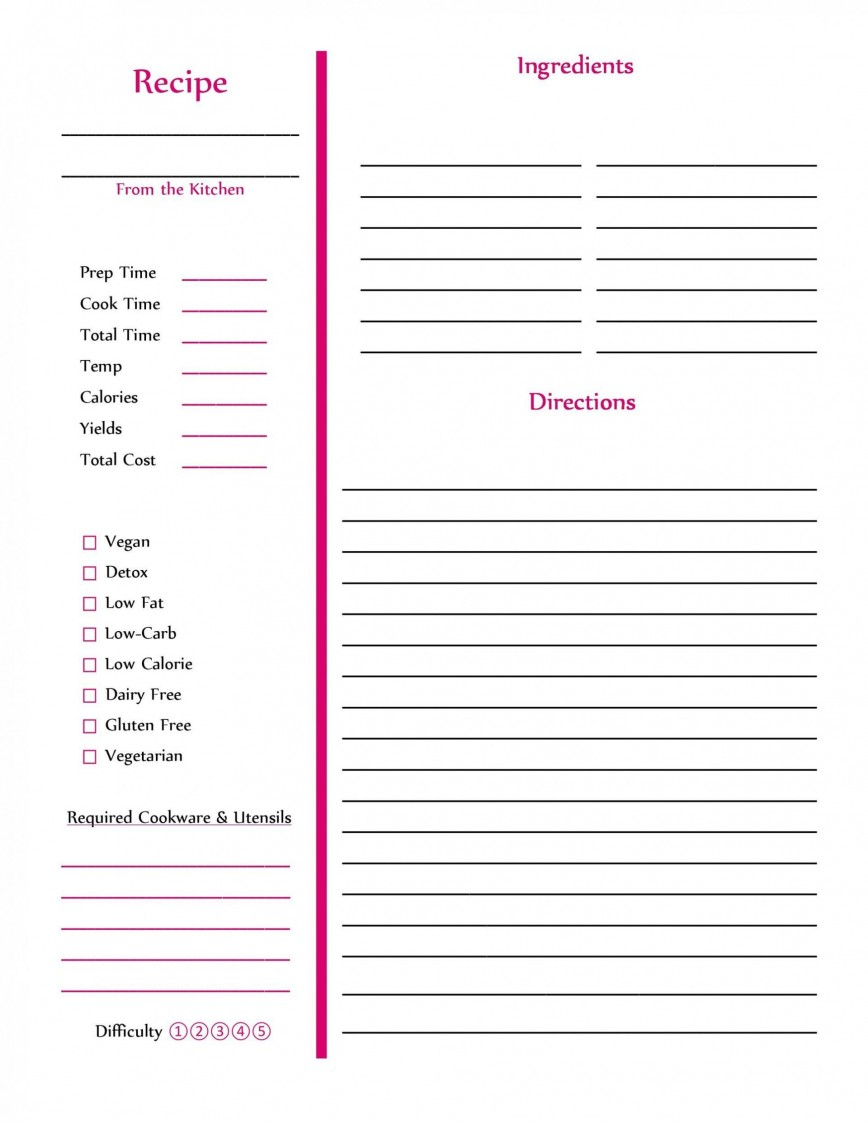 002 Amazing Free Recipe Book Template Highest Clarity  Software Indesign Download