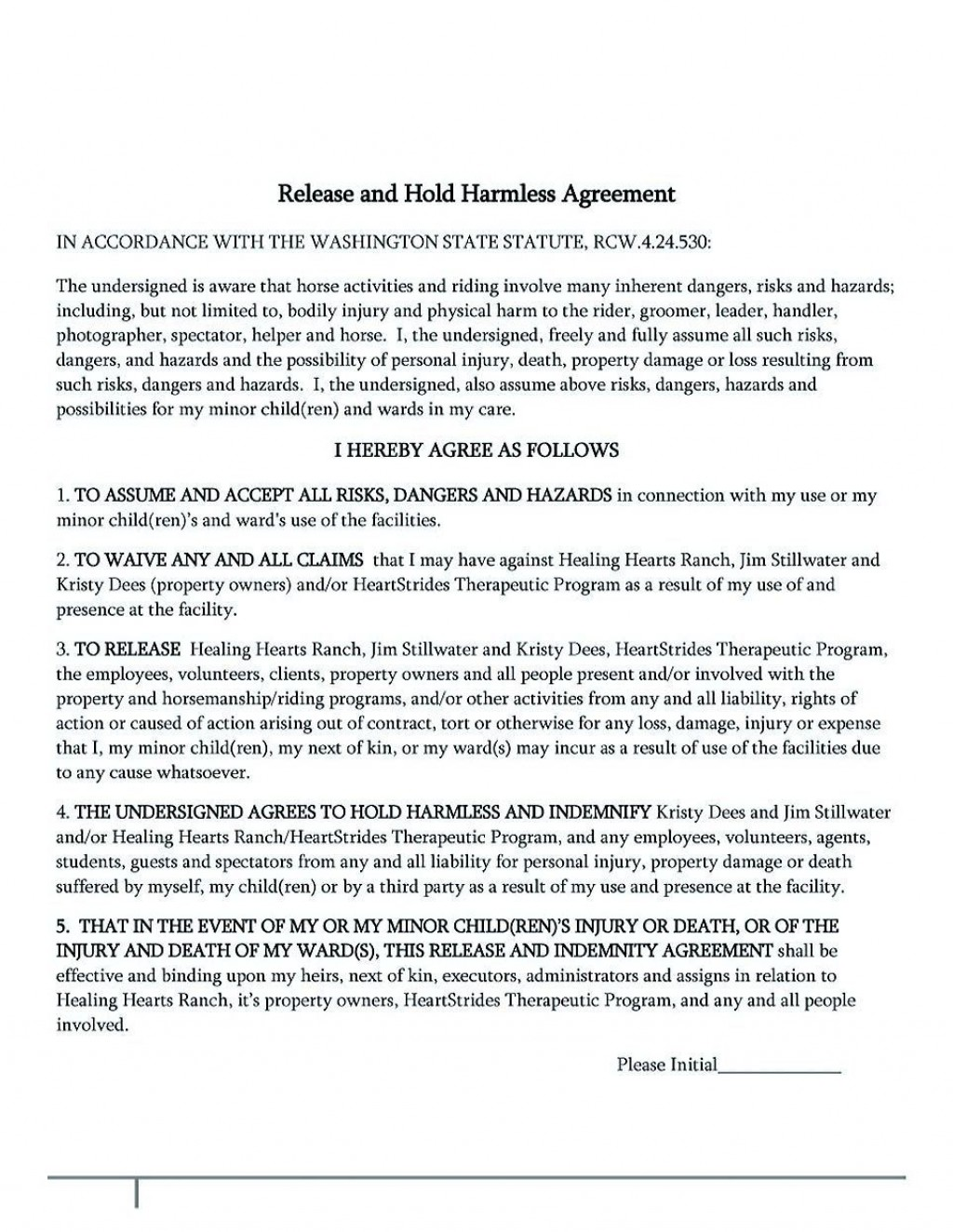 002 Amazing Hold Harmles Agreement Template Inspiration  Canada Word Free DownloadLarge