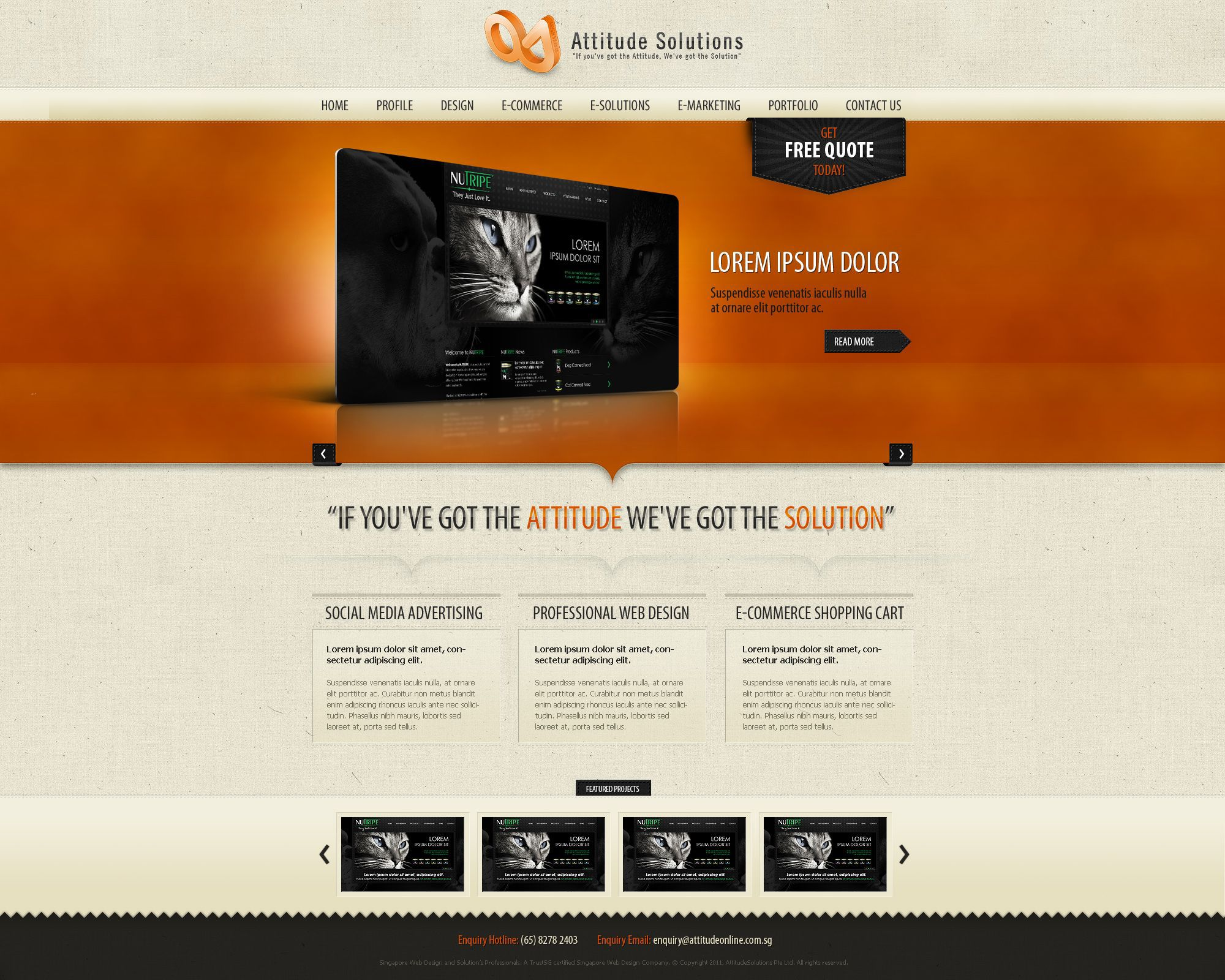 002 Amazing Iran Free One Page Psd Website Template Design Full