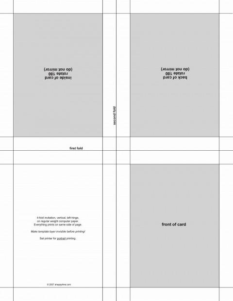 002 Amazing Microsoft Word Invitation Template 4 Per Page Example 480