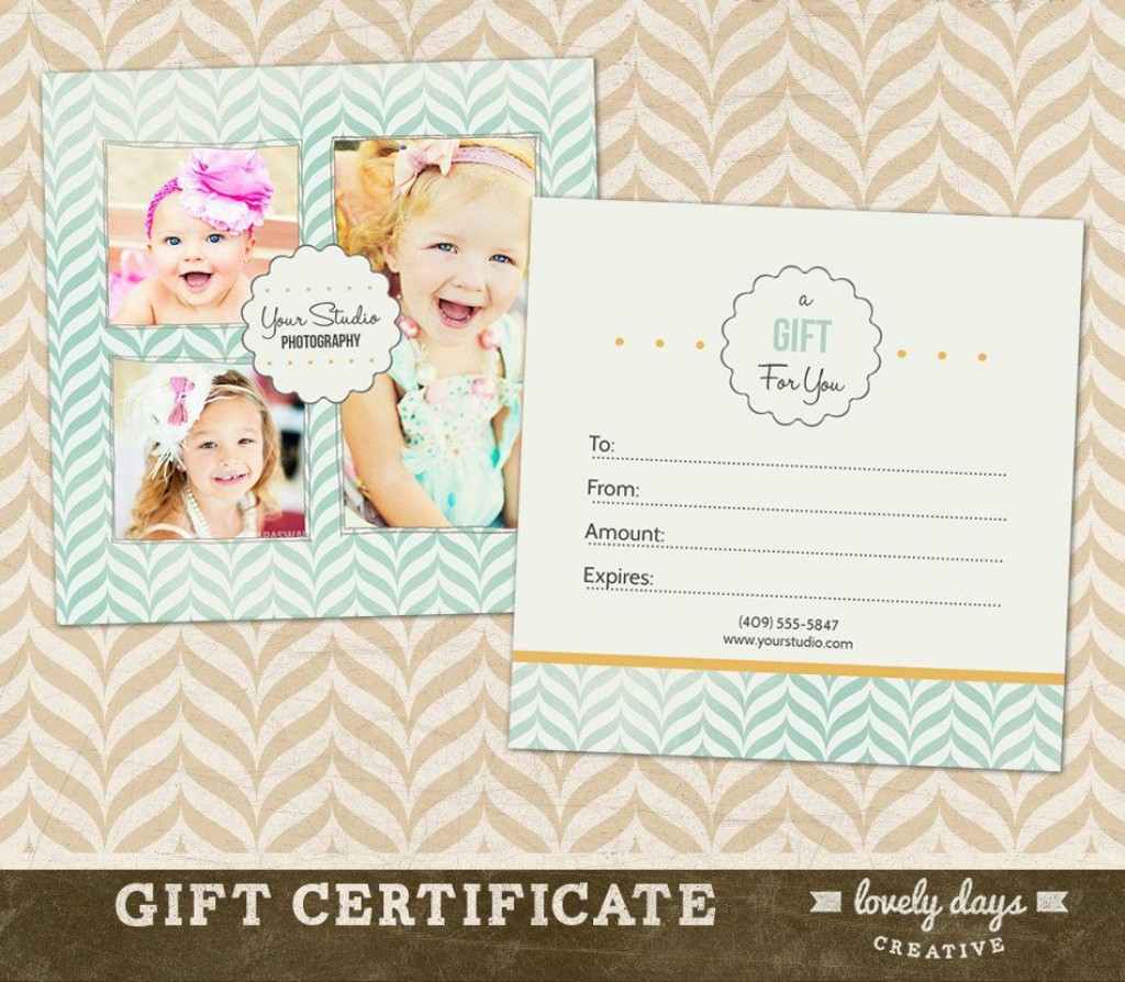 002 Amazing Photography Gift Certificate Template Photoshop Free High Resolution Large