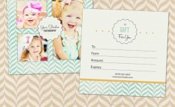 002 Amazing Photography Gift Certificate Template Photoshop Free High Resolution