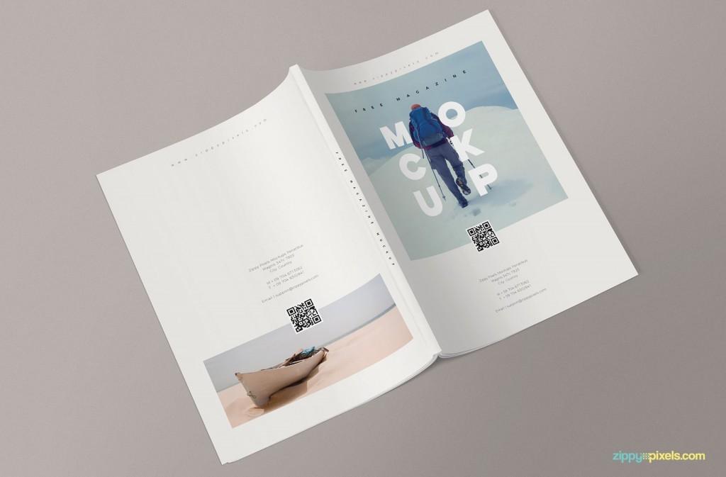 002 Amazing Photoshop Magazine Layout Template Free Download Concept Large