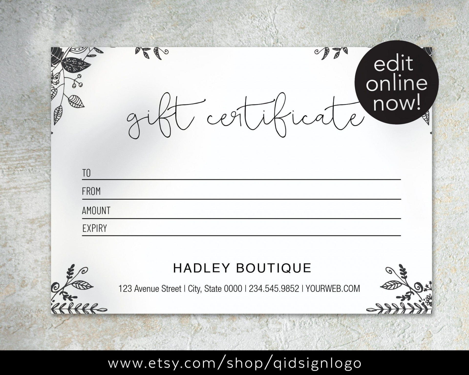 002 Amazing Printable Gift Certificate Template Sample  Card Free Christma Massage1920