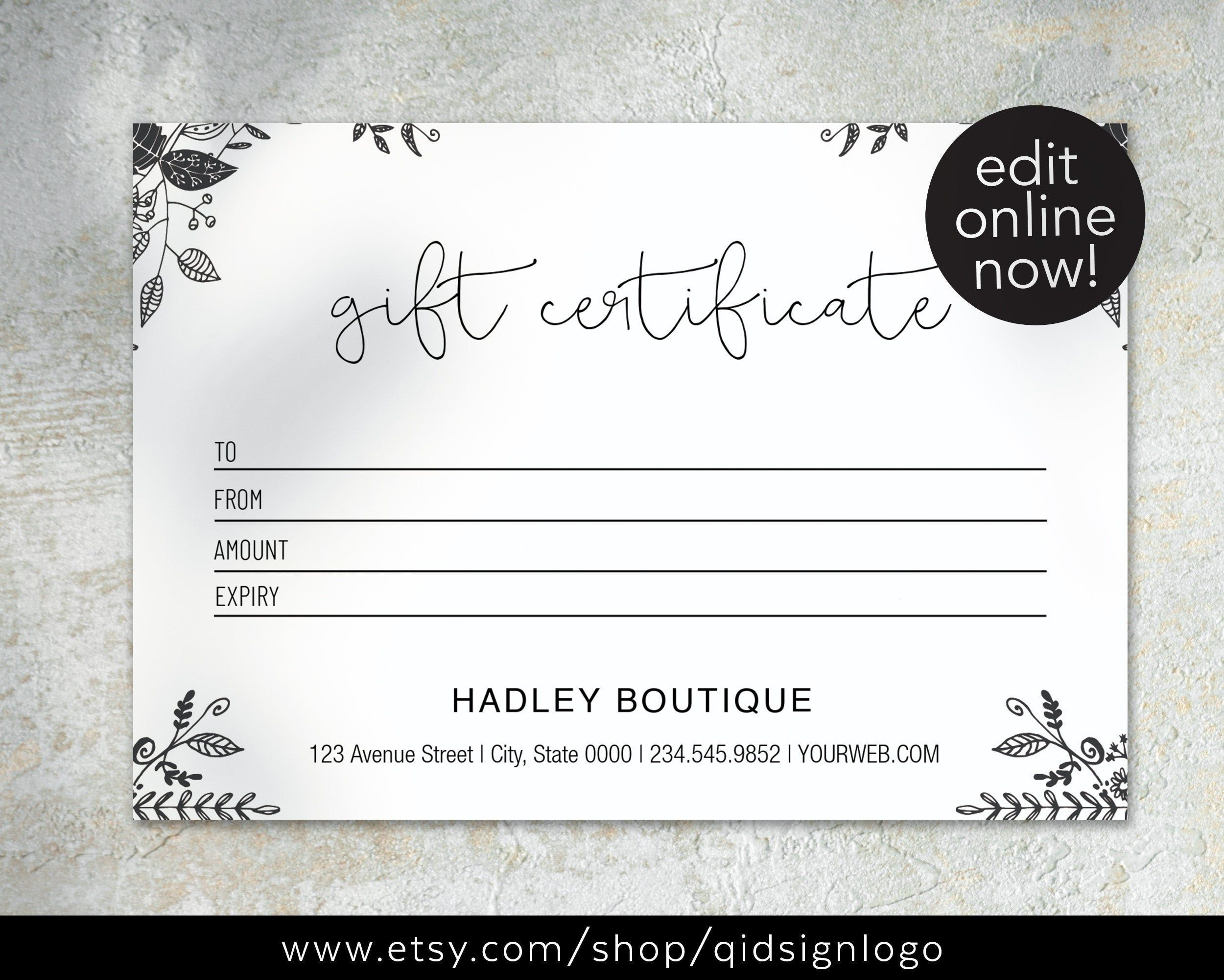 002 Amazing Printable Gift Certificate Template Sample  Card Free Christma MassageFull