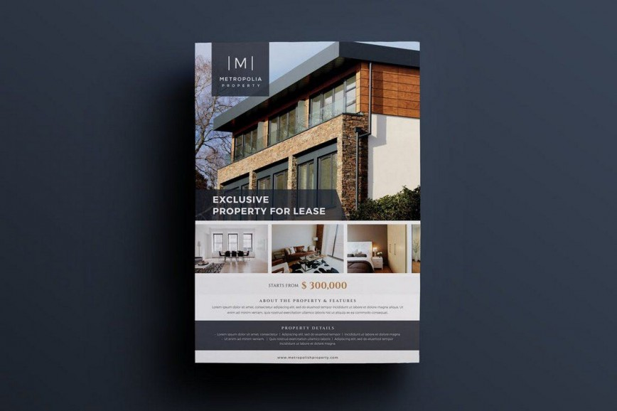 002 Amazing Real Estate Flyer Template Sample  Free Word Microsoft Publisher