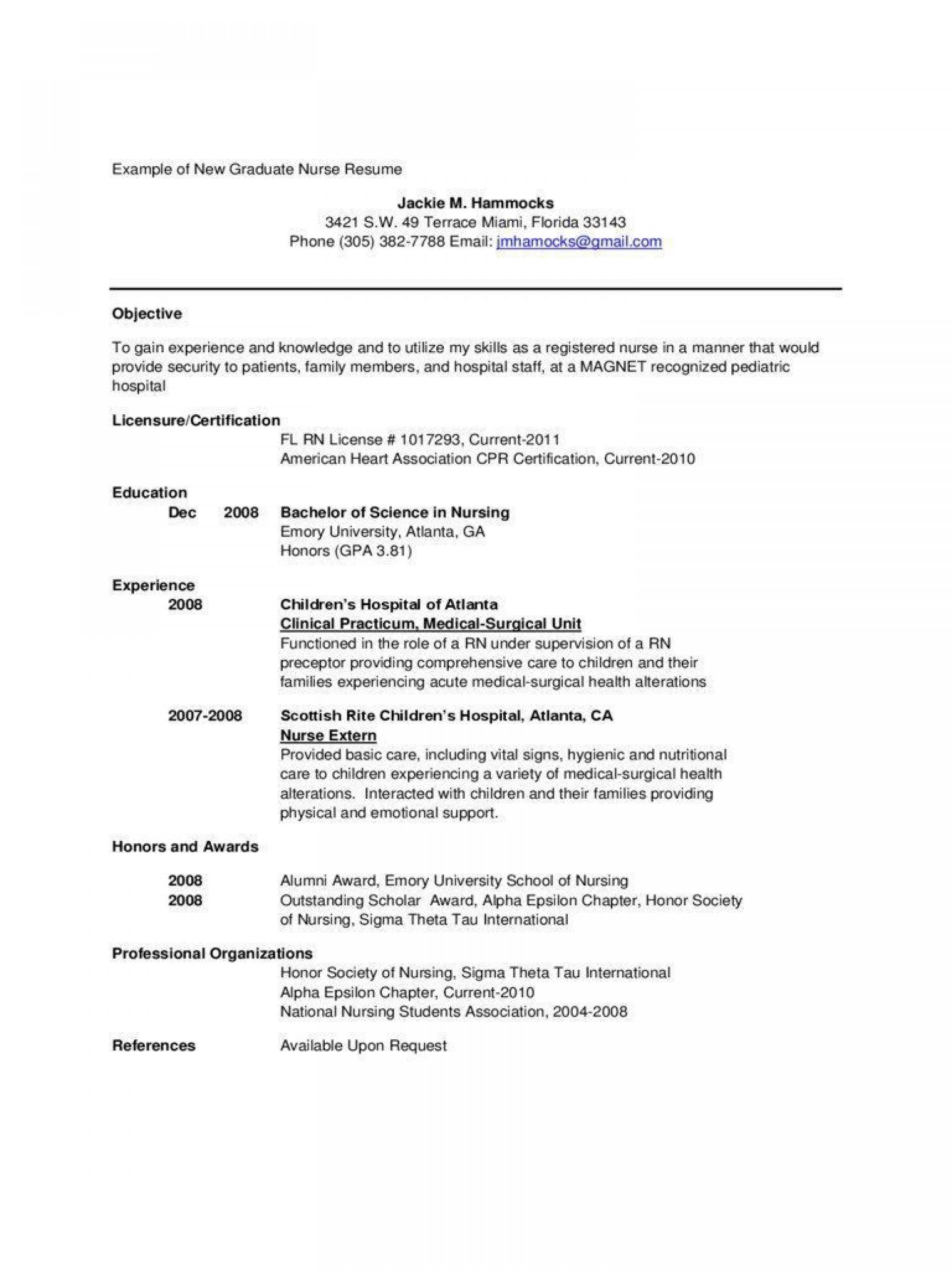 002 Amazing Rn Graduate Resume Template Idea  New Grad Nurse1920