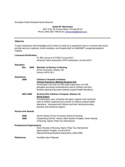002 Amazing Rn Graduate Resume Template Idea  New Grad Nurse480