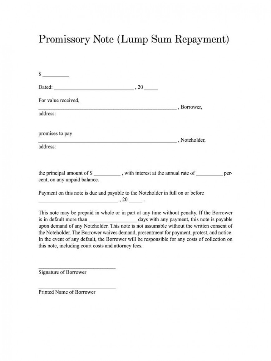 002 Amazing Simple Promissory Note Template High Resolution  Format Form Texa