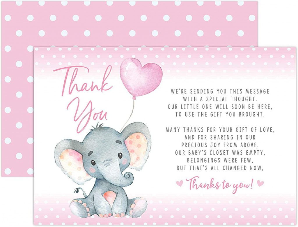 002 Amazing Thank You Card Wording Baby Shower Example  Note For Money Someone Who Didn't Attend HostesLarge