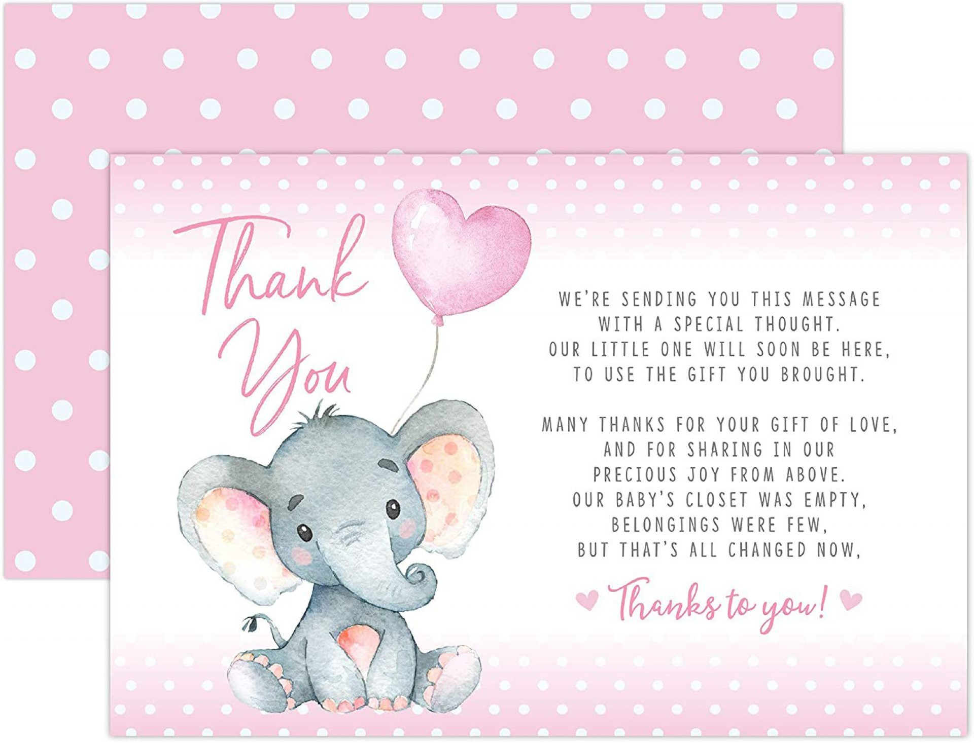 002 Amazing Thank You Card Wording Baby Shower Example  Note For Money Someone Who Didn't Attend Hostes1920