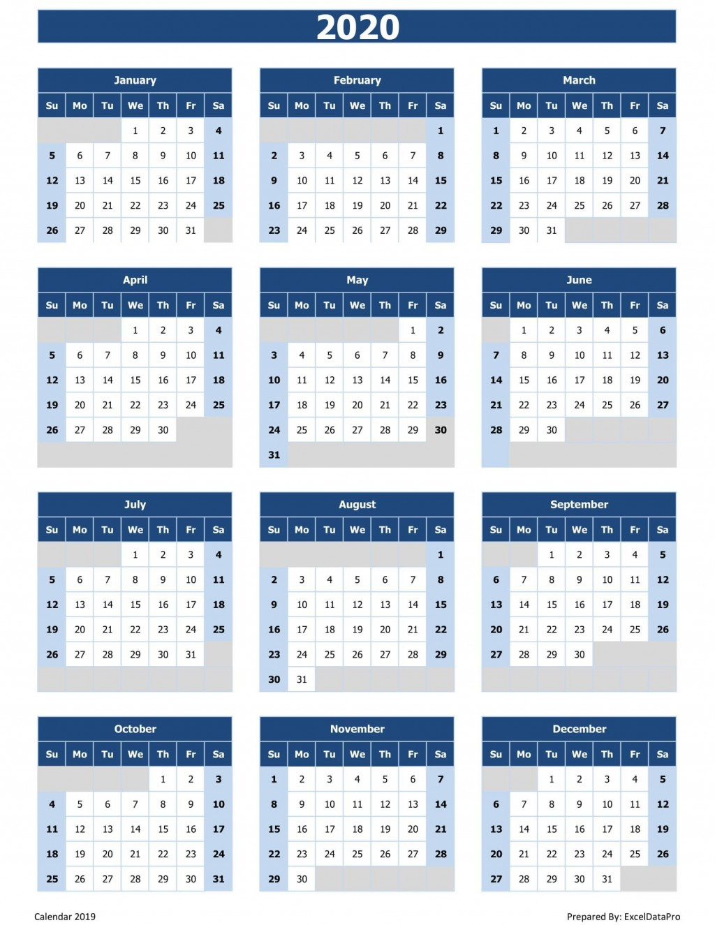 002 Archaicawful 2020 Calendar Template Excel Concept  Microsoft Editable In Format Free DownloadLarge