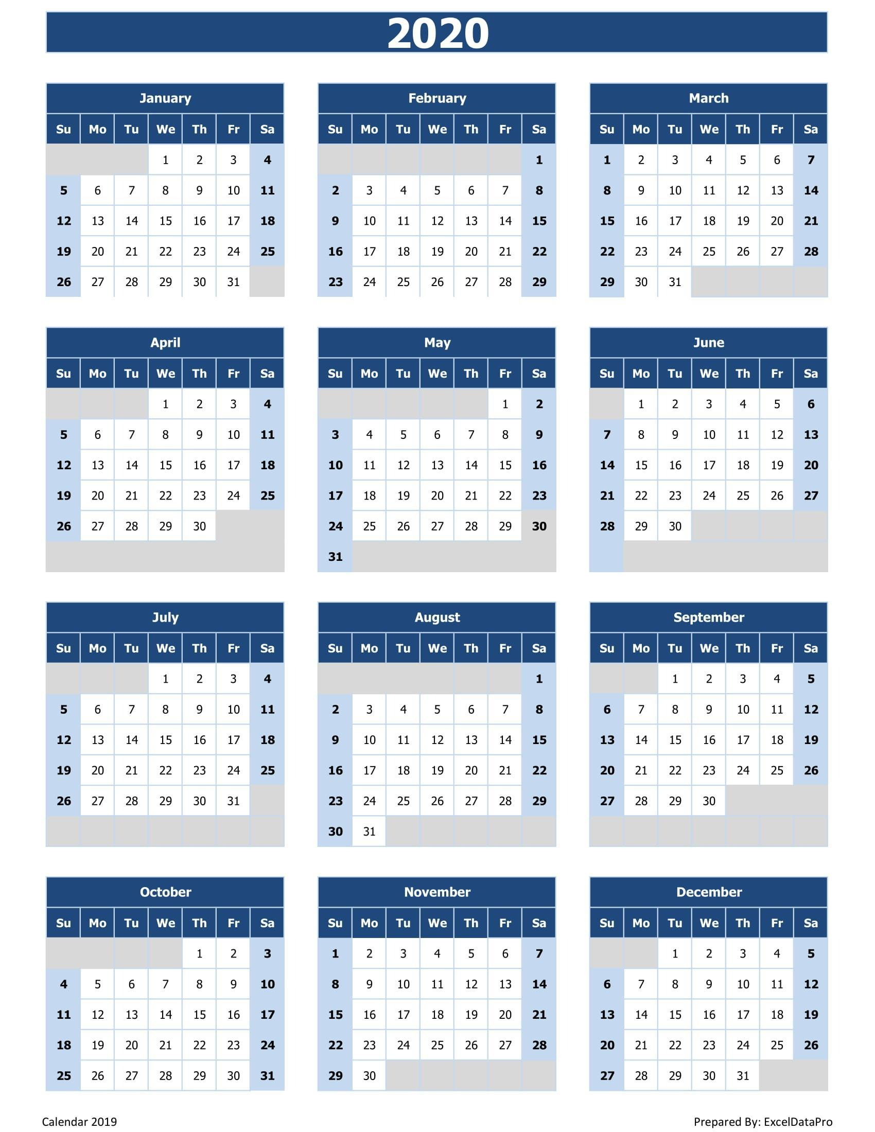 002 Archaicawful 2020 Calendar Template Excel Concept  Microsoft Editable In Format Free DownloadFull