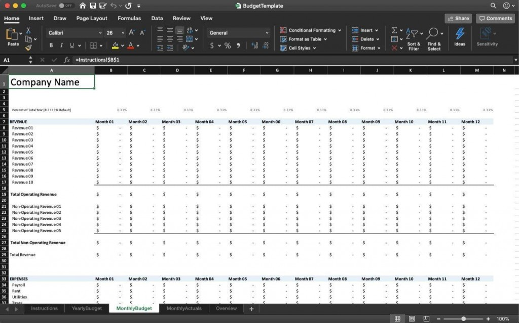 002 Archaicawful Annual Busines Budget Template Excel Design  Small FreeLarge