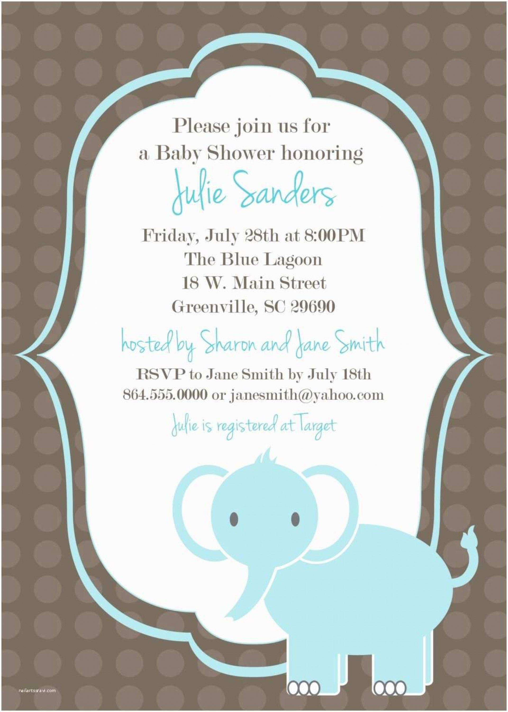 002 Archaicawful Baby Shower Invitation Template Word Photo  Office Wording Sample Work Download1920
