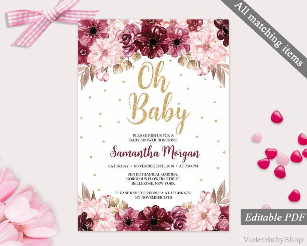 002 Archaicawful Baby Shower Invitation Template Editable Inspiration  Free Surprise In Gujarati TwinLarge