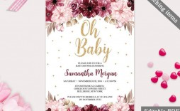 002 Archaicawful Baby Shower Invitation Template Editable Inspiration  Free Surprise In Gujarati Twin