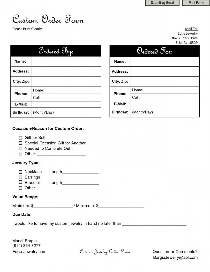 002 Archaicawful Custom Order Form Template High Def  Work Personalized T Shirt
