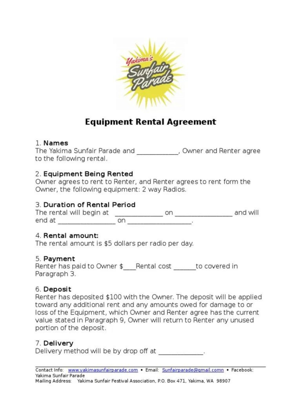 002 Archaicawful Equipment Rental Agreement Template Design  Canada Free South Africa PdfLarge