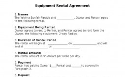 002 Archaicawful Equipment Rental Agreement Template Design  Canada Free South Africa Pdf