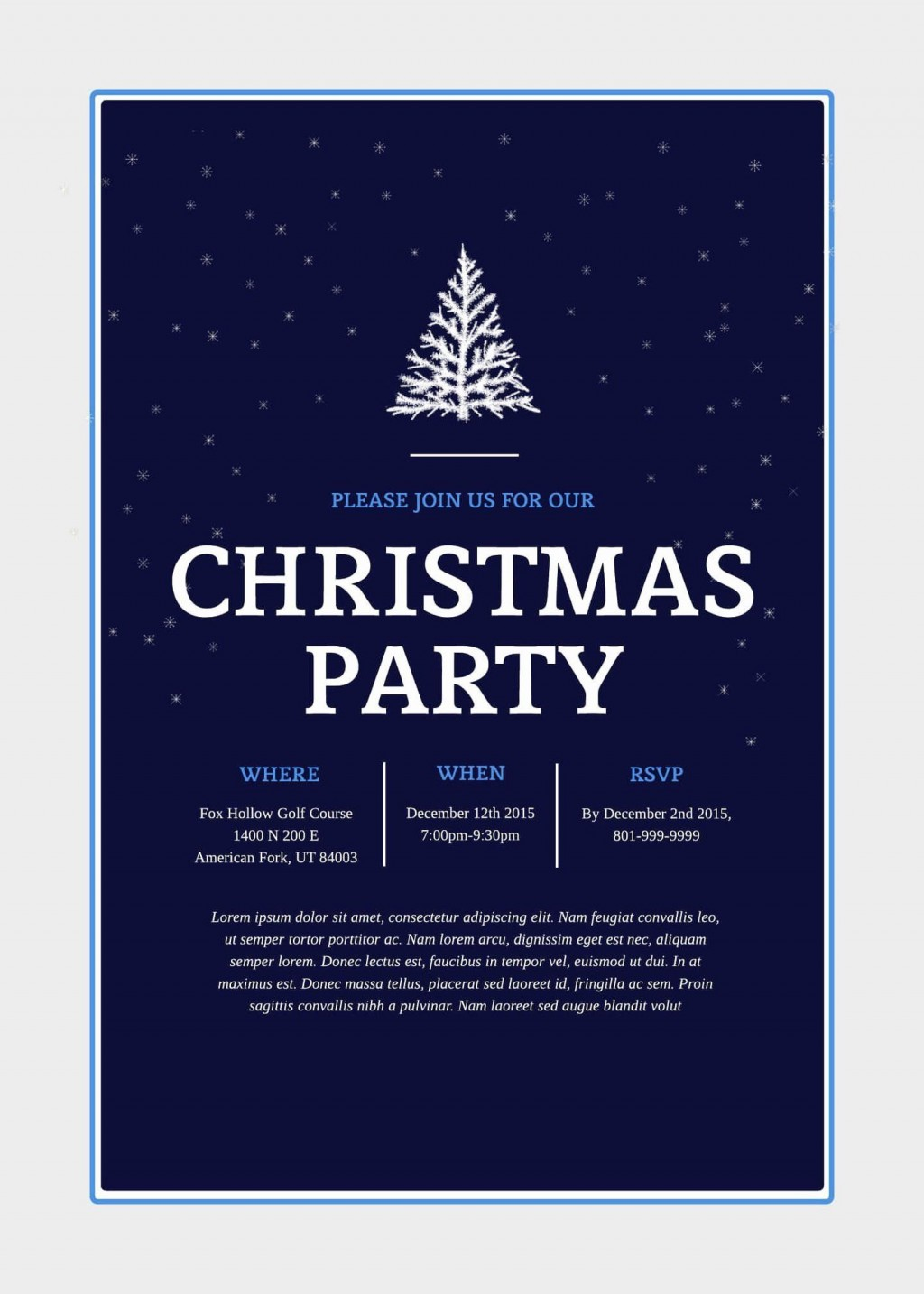 002 Archaicawful Free Email Holiday Party Invitation Template Highest Quality  Templates ChristmaLarge