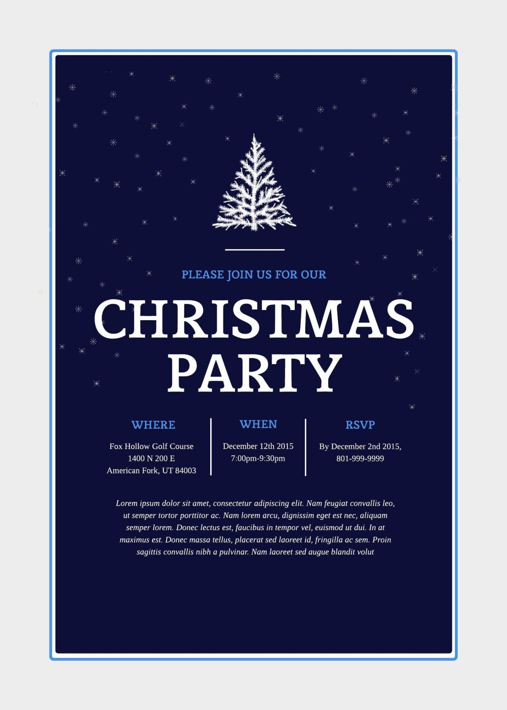 002 Archaicawful Free Email Holiday Party Invitation Template Highest Quality  Templates Christma1920