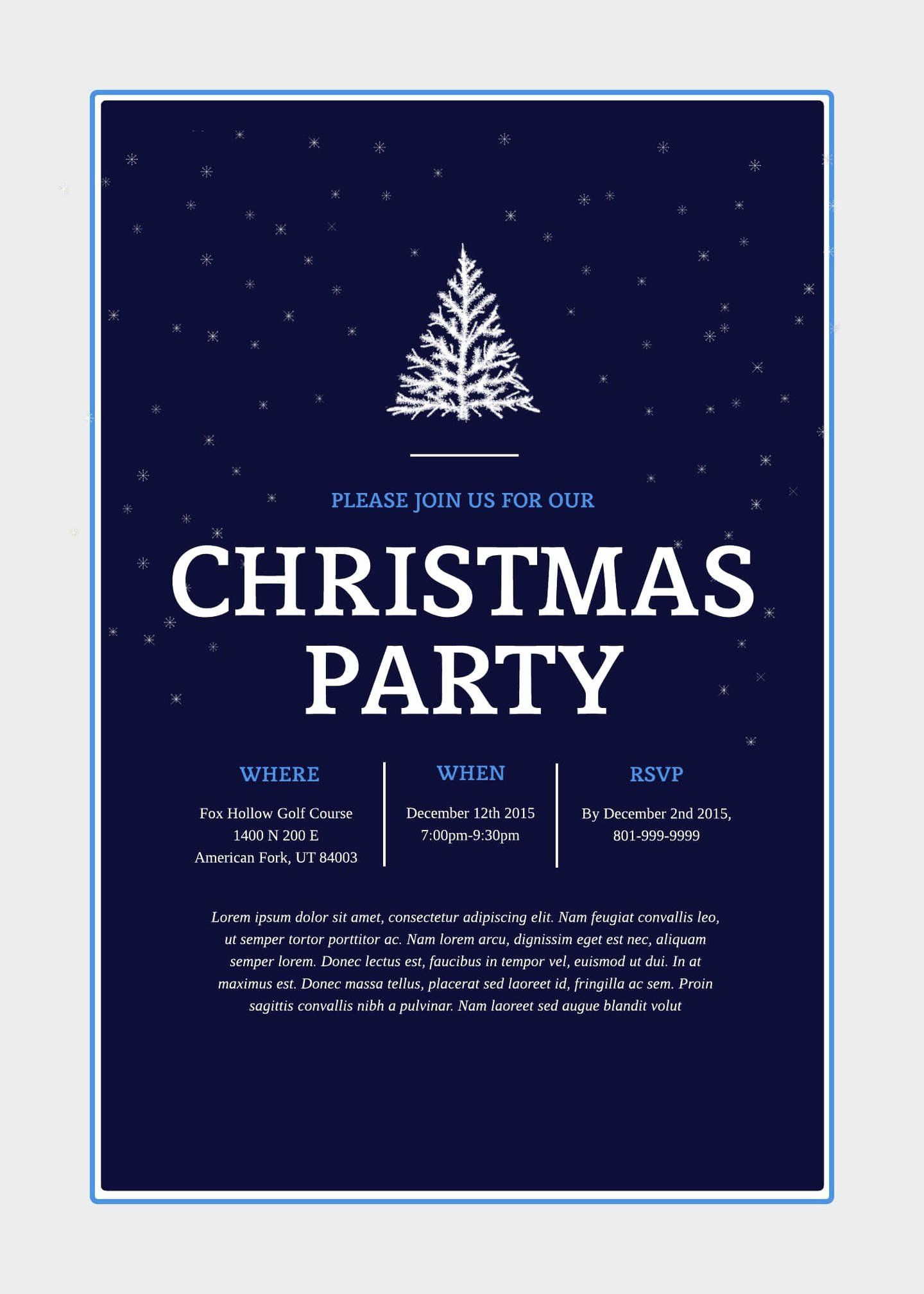 002 Archaicawful Free Email Holiday Party Invitation Template Highest Quality  Templates ChristmaFull