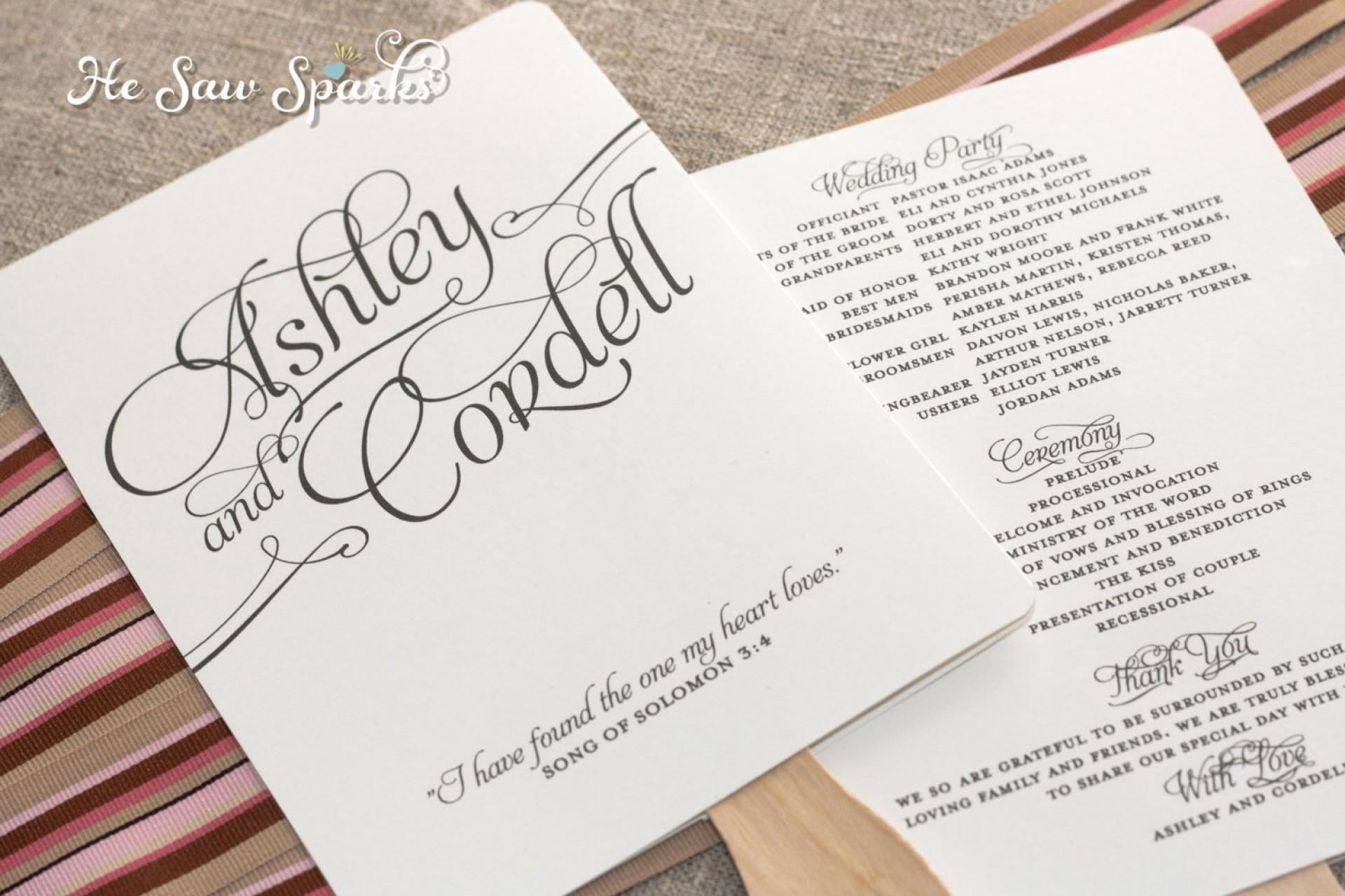 002 Archaicawful Free Printable Wedding Program Paddle Fan Template High Resolution  Templates1920