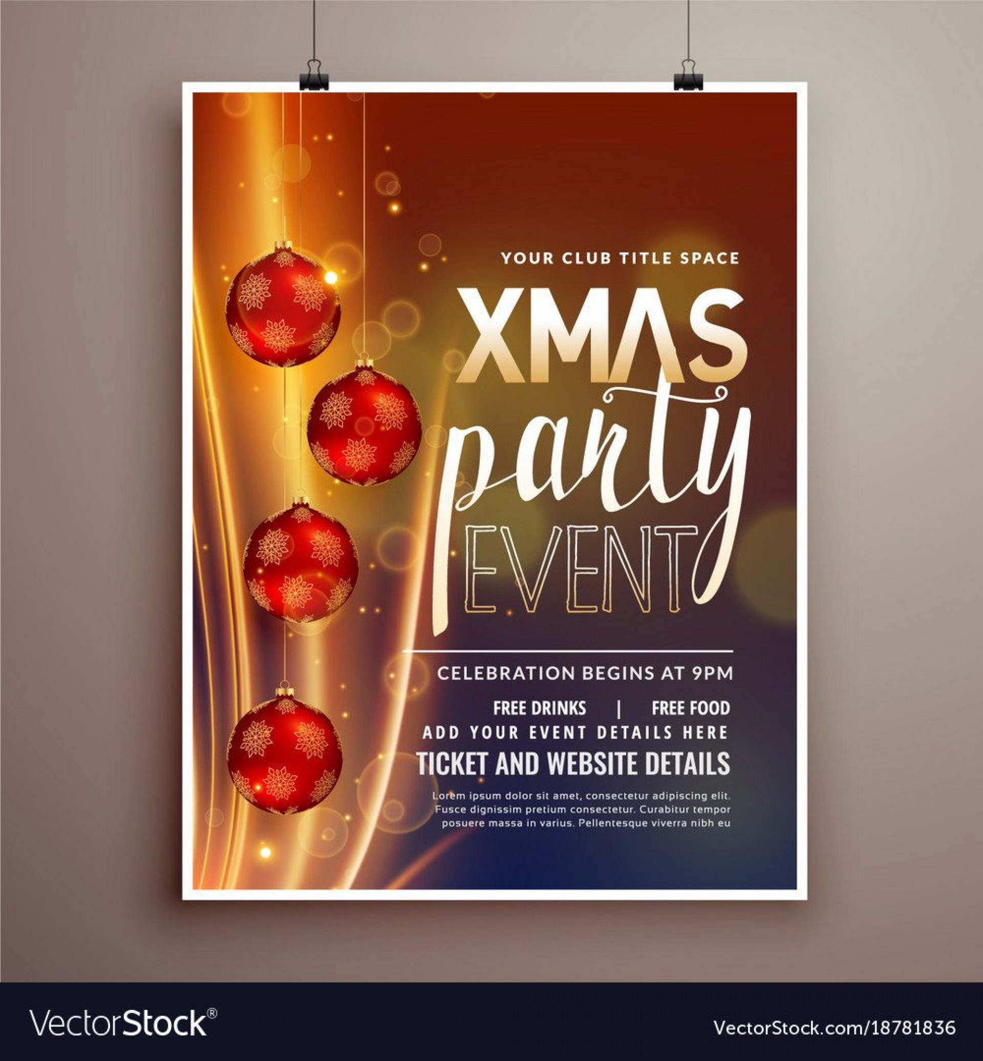 002 Archaicawful Holiday Party Flyer Template Free High Definition  Office1920