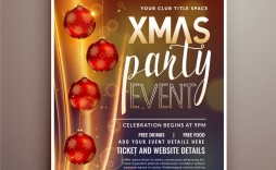 002 Archaicawful Holiday Party Flyer Template Free High Definition  Office
