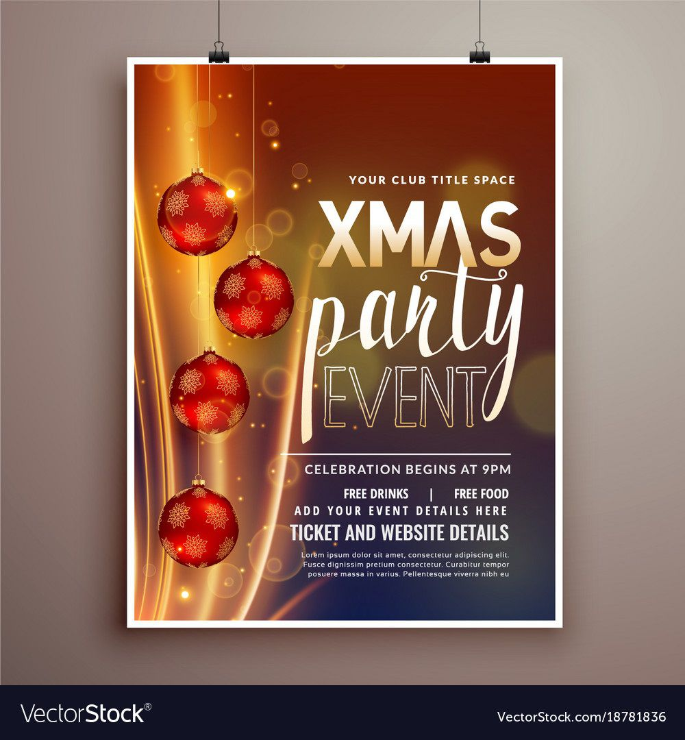 002 Archaicawful Holiday Party Flyer Template Free High Definition  OfficeFull
