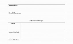 002 Archaicawful Lesson Plan Template Free Concept  Weekly Printable Editable Preschool Format