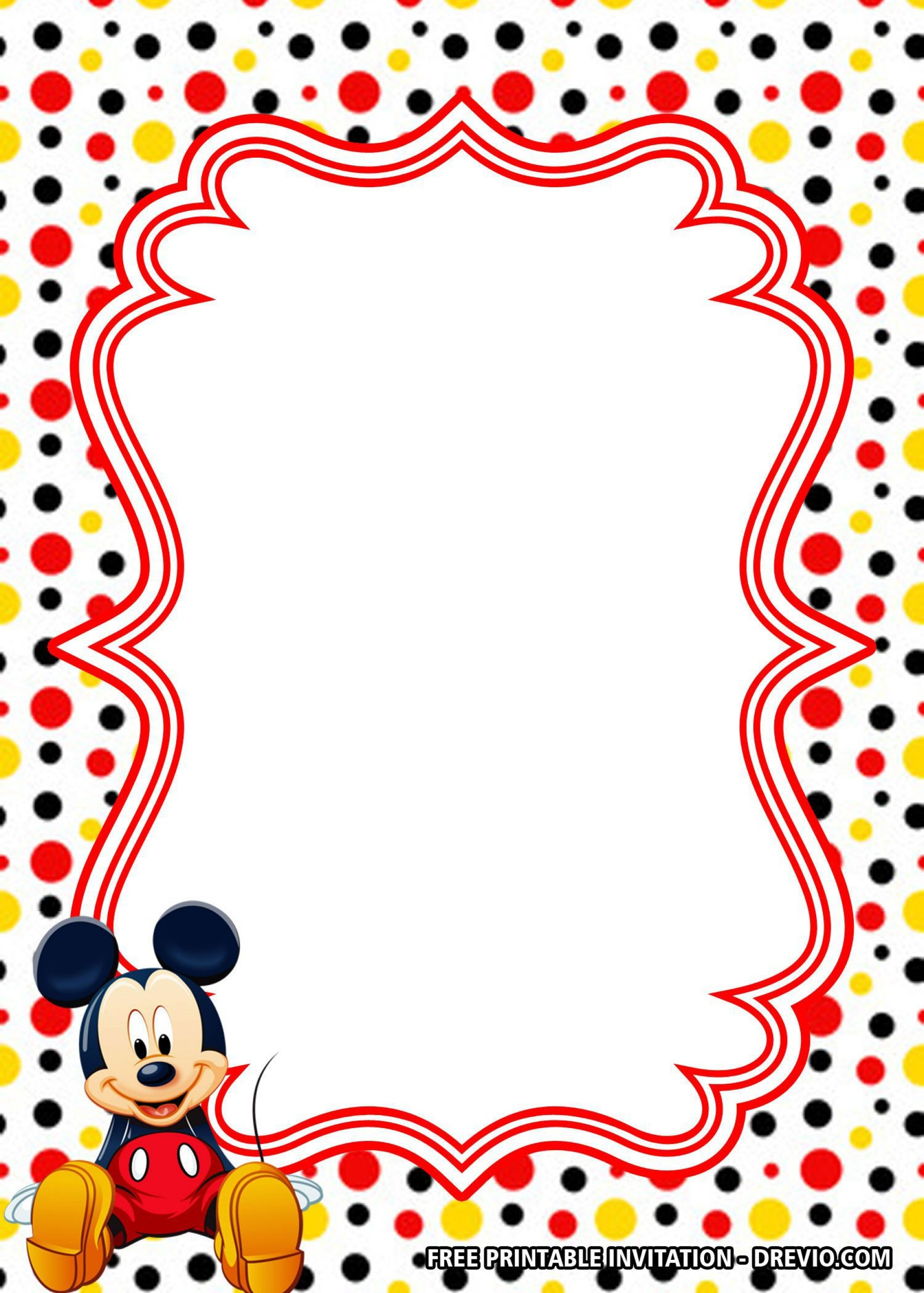 002 Archaicawful Mickey Mouse Invitation Template High Def  Templates Clubhouse Birthday Free 1st Download1920