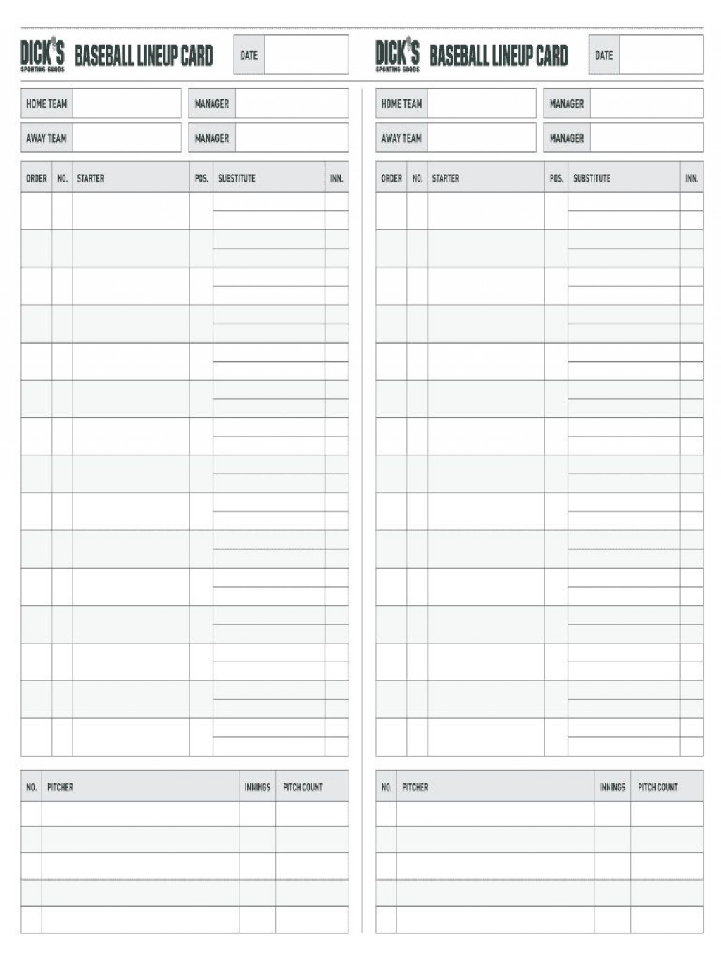 002 Archaicawful Softball Lineup Template Excel Picture  Batting Card RosterLarge