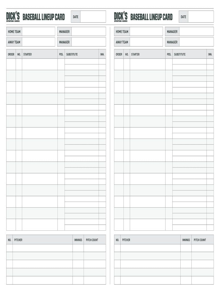 002 Archaicawful Softball Lineup Template Excel Picture  Batting Card RosterFull