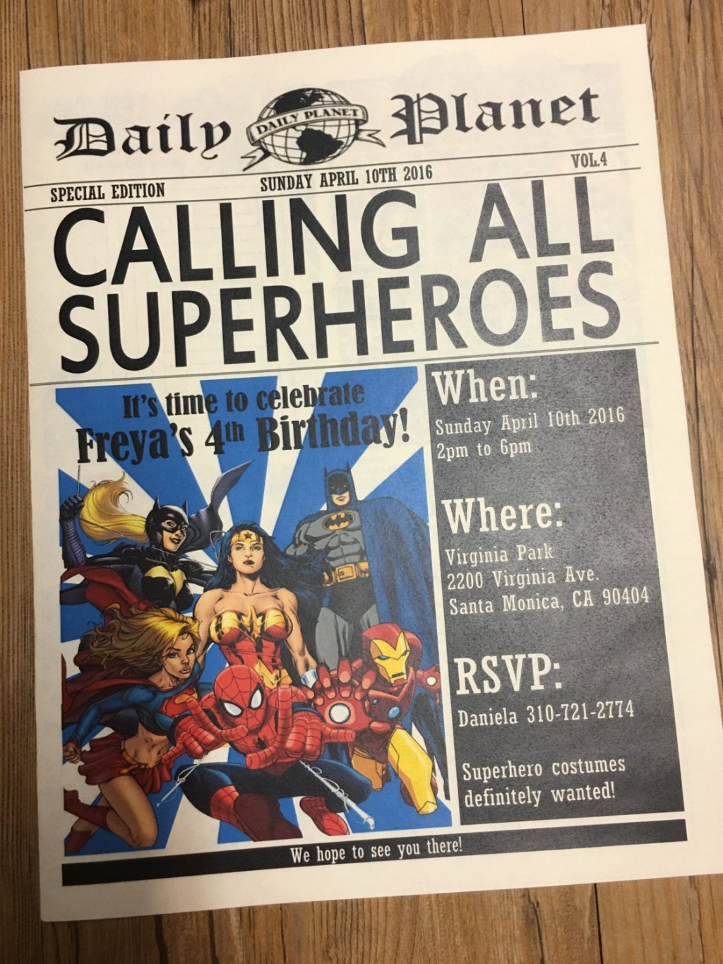 002 Archaicawful Superhero Newspaper Invitation Template Free Highest Quality Large