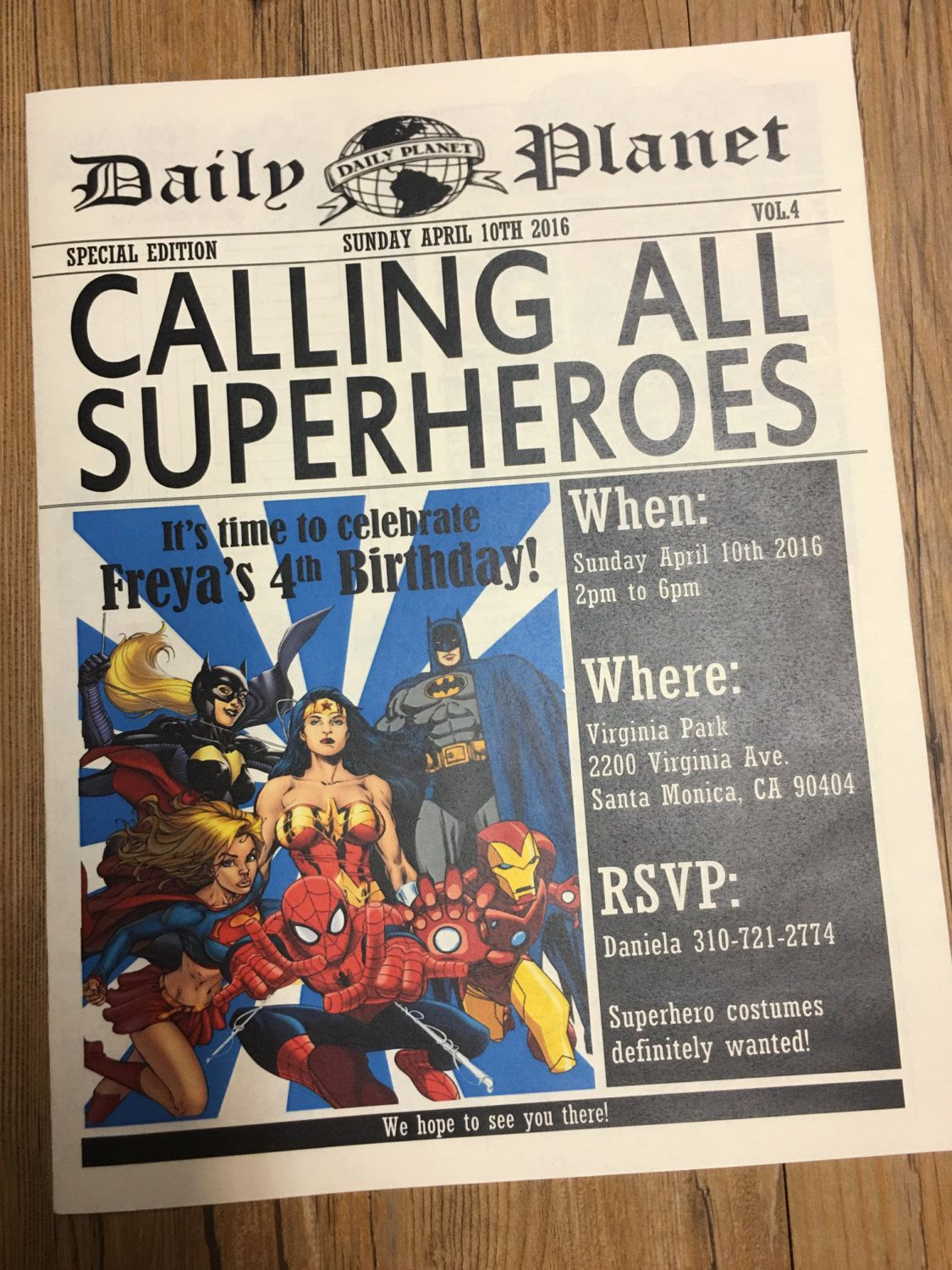 002 Archaicawful Superhero Newspaper Invitation Template Free Highest Quality Full