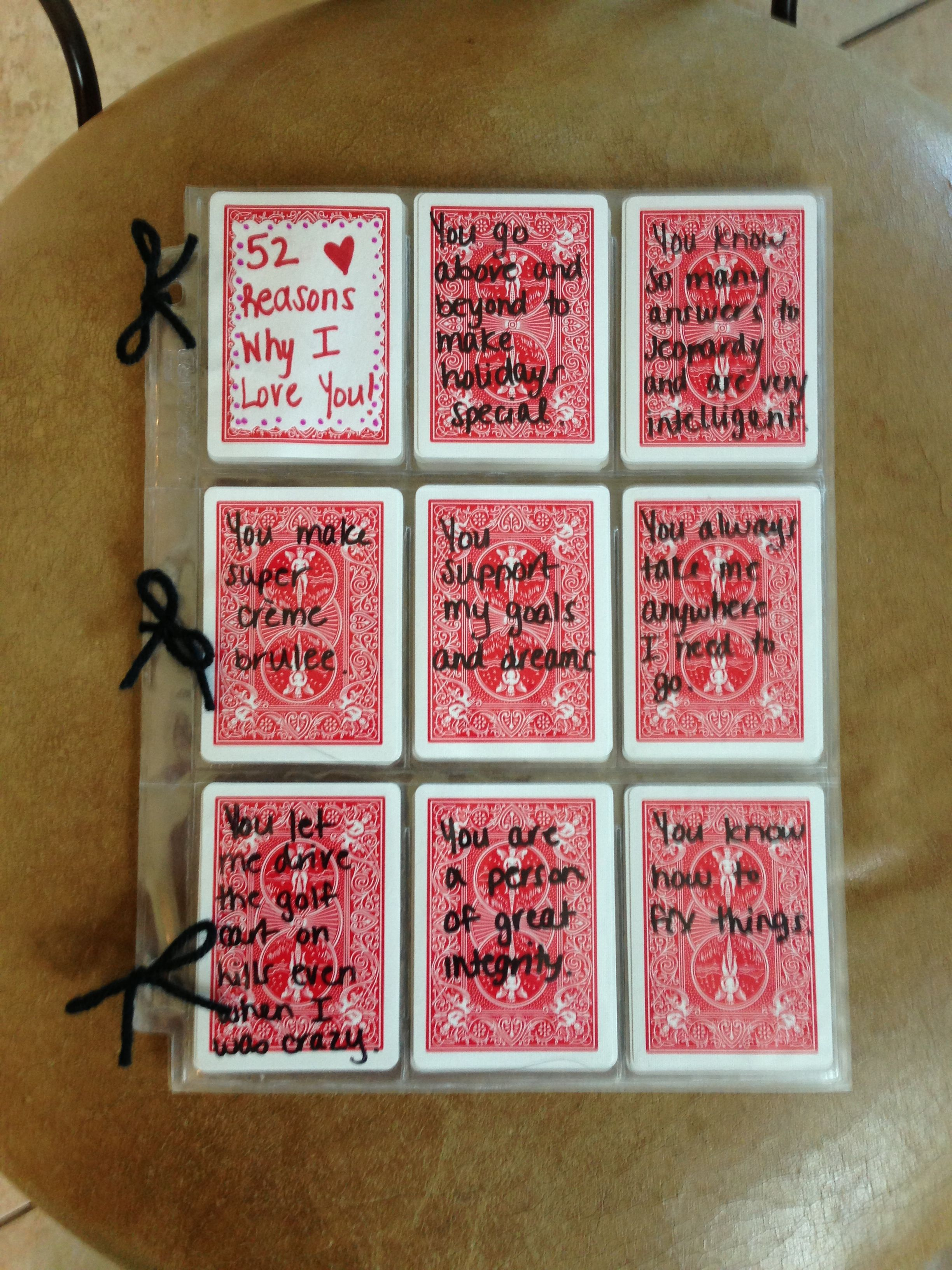 002 Astounding 52 Reason Why I Love You Deck Of Card Free Template Image Full
