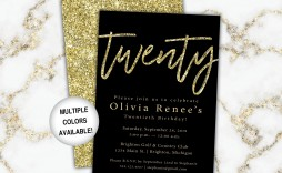 002 Astounding Black And Gold Invitation Template High Resolution  Design White Free Printable