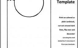 002 Astounding Blank Door Hanger Template Free Design