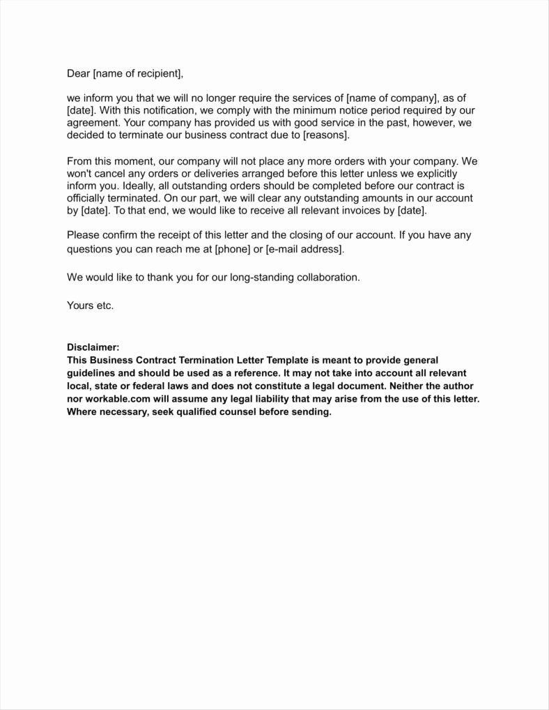 Business Contract Termination Letter from www.addictionary.org